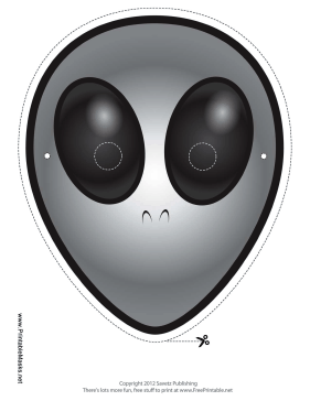 Alien Mask Printable Mask