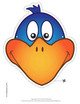 Bird Mask Printable Mask