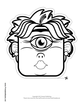 cyclops mask template printable female cyclops mask to color mask