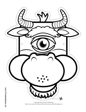 cyclops mask template printable cyclops minotaur mask to color mask