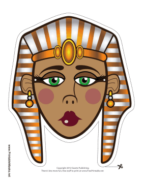 Printable egyptian queen mask mask for Egyptian masks templates