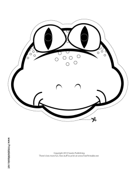 Frog mask template for Sloth mask template