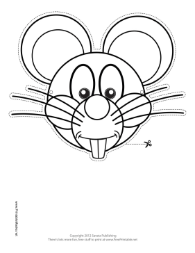 Printable mouse mask to color mask for Printable mouse mask template
