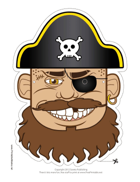 Hat Pirate Mask Printable Mask