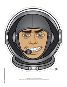 Male Astronaut Mask