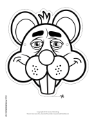 Beaver Mask to Color Printable Mask