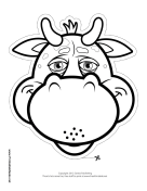 Bull Mask to Color