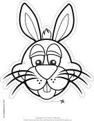 Bunny Mask to Color