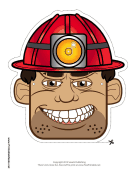 Male Caver-Miner Mask Printable Mask