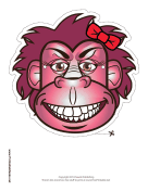 Gorilla with Bow Mask