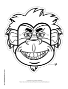Gorilla Mask to Color
