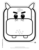 Hippo Mask to Color
