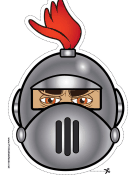 Knight with Crest Round Mask