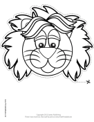 Lion Mask to Color