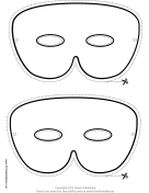 Simple Mardi Gras Mask to Color