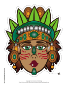 Mayan Queen Mask Printable Mask