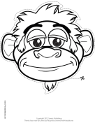 Monkey Mask to Color