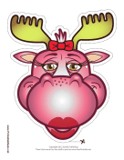 Moose with Bow Mask