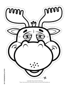 Moose Mask to Color