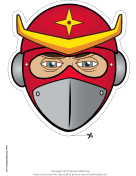 Helmeted Ninja Mask