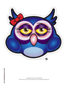 Owl with Bow Mask