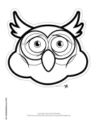 Owl Mask to Color