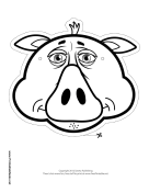 Pig Mask to Color
