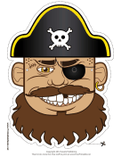 Pirate Captain Mask
