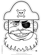 Hat Pirate Mask to Color