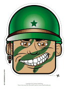 Male Soldier Mask Printable Mask