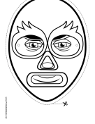 Wrestler Mask to Color